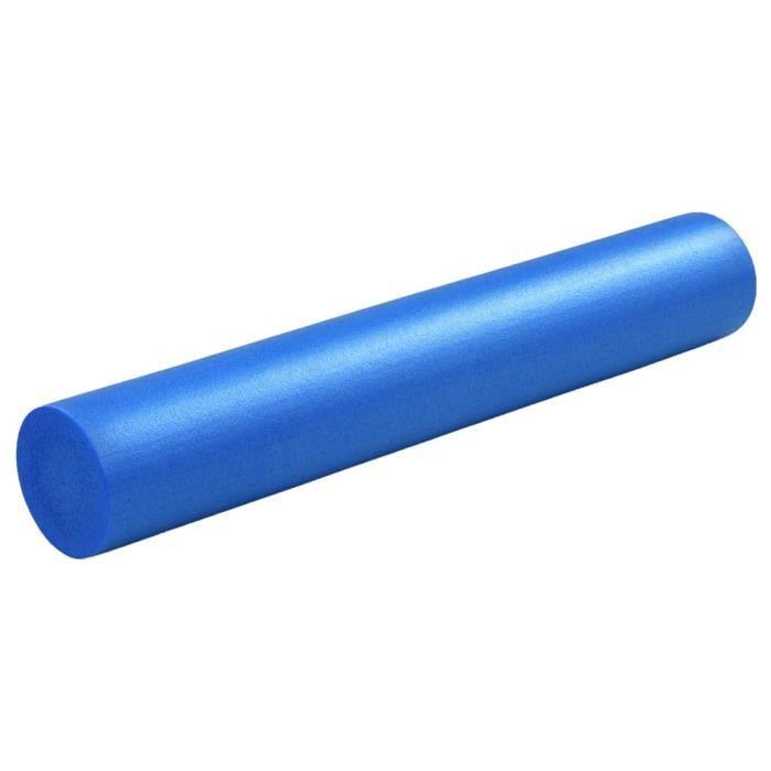 Rouleau en mousse de yoga 15x90 cm EPE Bleu