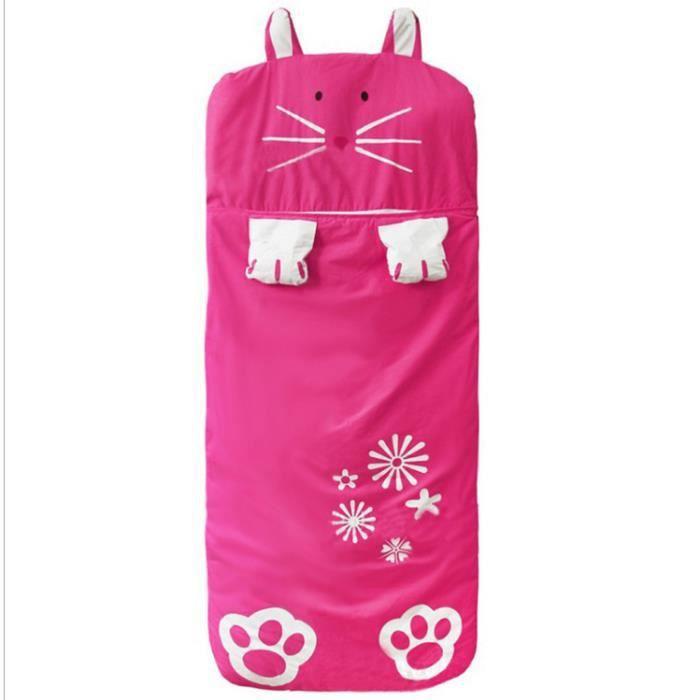 Fenteer Sac de Couchage Coton Impression Nid d'ange maternelle préscolaire tapis style mignon(Rouge)