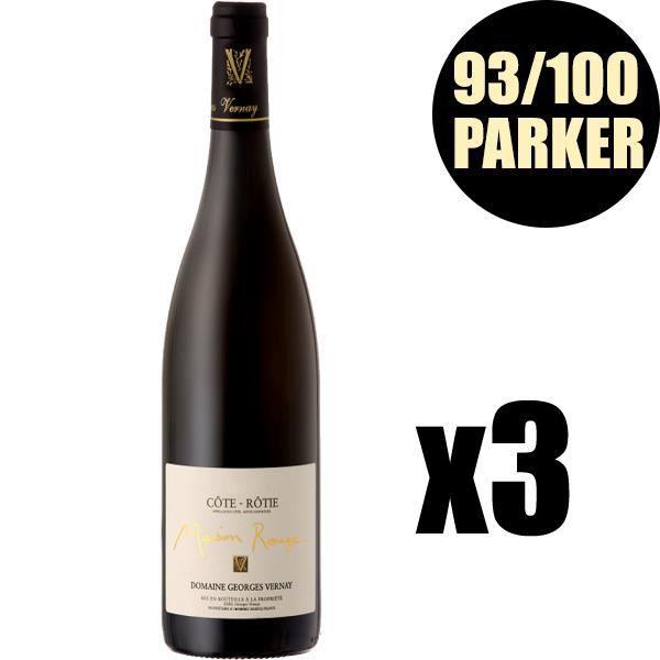 X3 Côte Rôtie -Maison Rouge- 2011 75 cl Domaine Vernay Georges AOC Côte Rôtie Vin Rouge