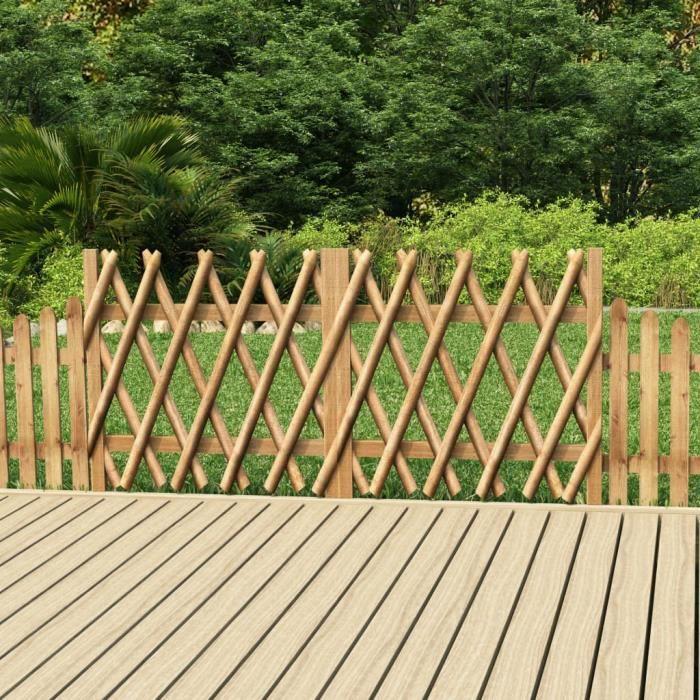 *beau* 4056Haute qualité -Lot de 2 Portillons Portail de jardPortillons de jardin 2 pcs Bois de pin imprégné 300x100 cm