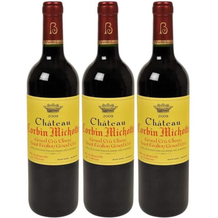 VIN ROUGE Ch&acircteau Corbin Michotte Saint-Emilion Grand Cru Classé Rouge 2009 - Vin AOC Rouge de Bordeaux - C&eacute184