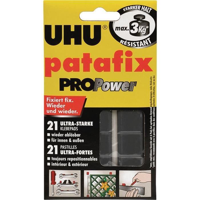 UHU Pâte à fixer patafix PROPower Repositionnable Noir