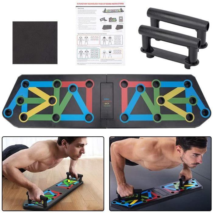 aiface 13 en 1 Push Up Musculation Push Up Board Multifonctionnelle Pliable Poignée de Pompe Appareil Musculation pour Entraînement