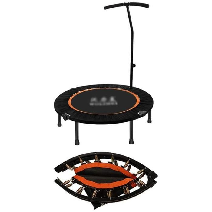 TRAMPOLINE FITNESS ZXQZ Trampolines Fitness Mini-Trampoline, Fitness Adulte Sports Fitness Trampoline Int&eacuterieur Bouncing 345