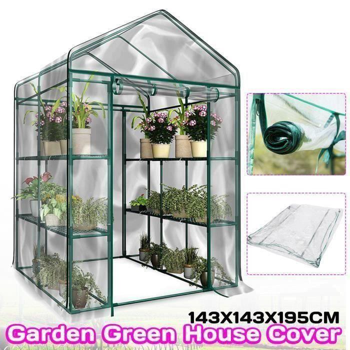 Couverture de Serre Protection Plants PVC Transparente Jardin à effet de Serre Anti Givre Glace Anti Insect Étui JAF4841