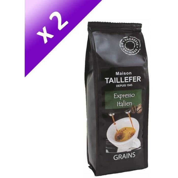 [LOT DE 2] Cafés en grain Italien Expresso - 2 x 250g