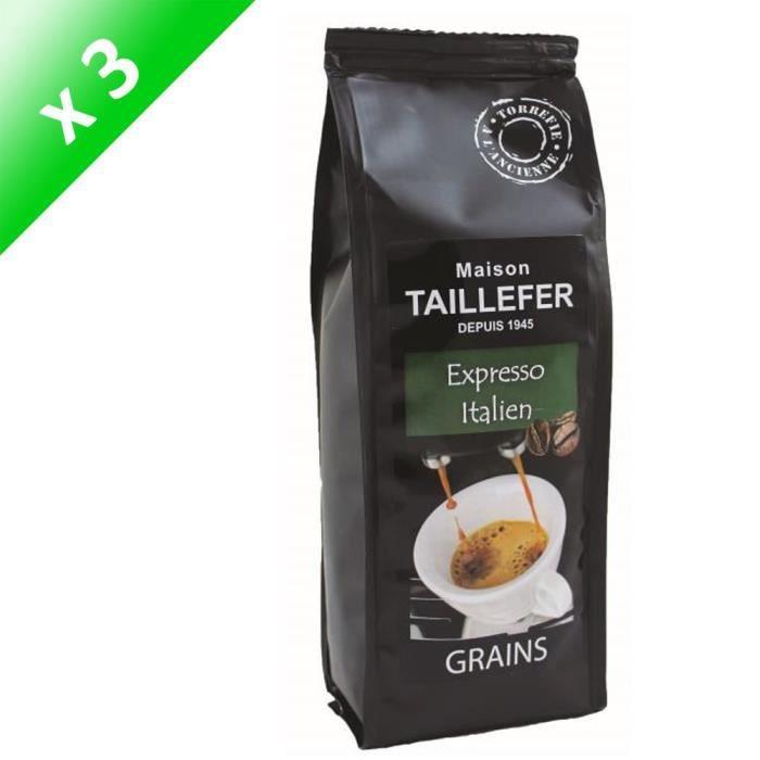 [LOT DE 3] Café Expresso Italien Grains Sachet 250g