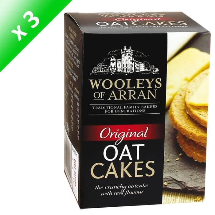 [LOT DE 3] WOOLEYS Crackers Original Oatcakes - 280 g