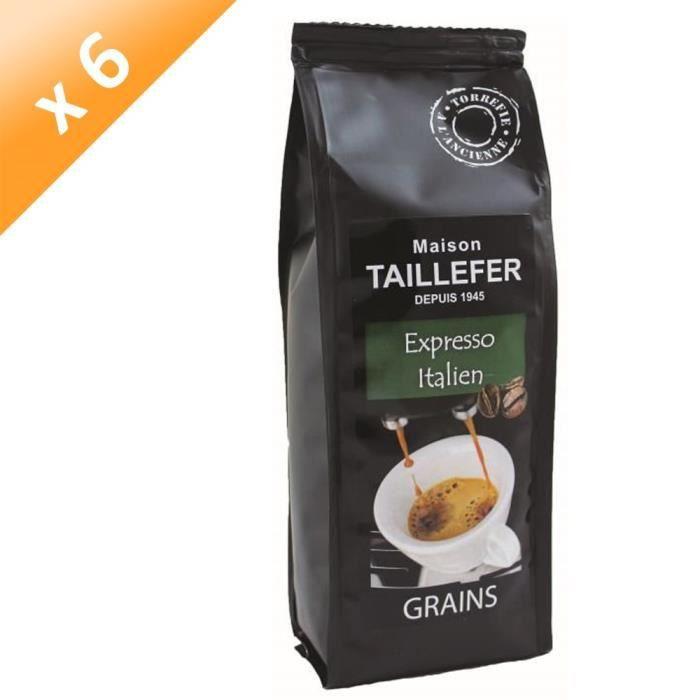 [LOT DE 6] Café Expresso Italien Grains Sachet 250g