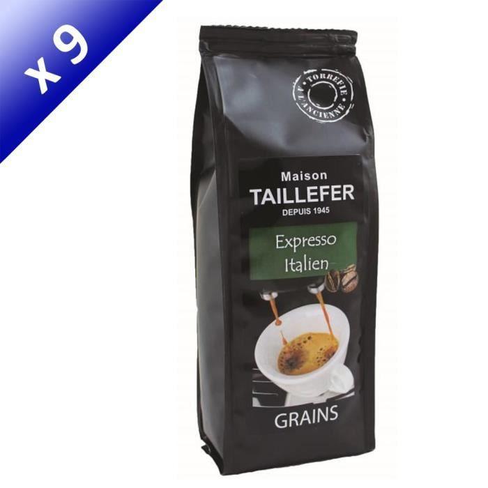 [LOT DE 9] Café Expresso Italien Grains Sachet 250g