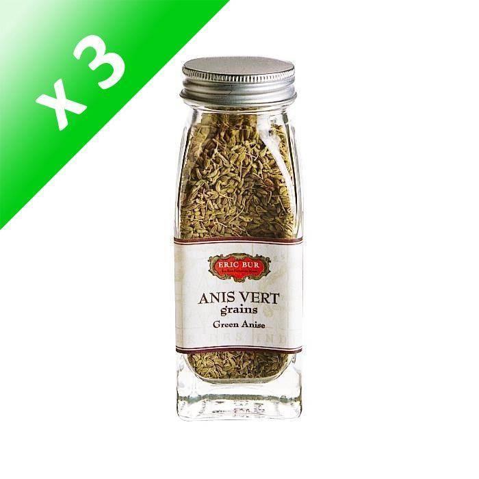 [LOT DE 3] ERIC BUR Epices Anis Vert Grains - 37g