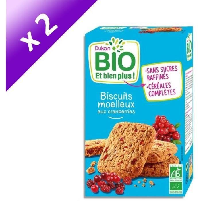 [LOT DE 2] Biscuits moelleux Bio aux cranberries 150g