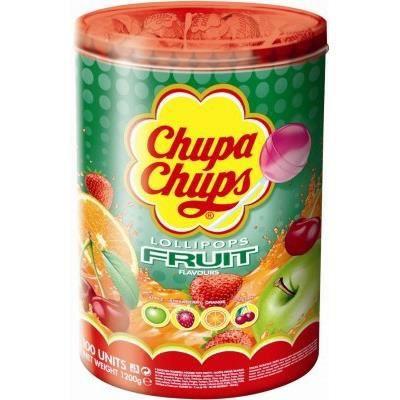 Sucettes Chupa Chups Fruit, 100 pièces
