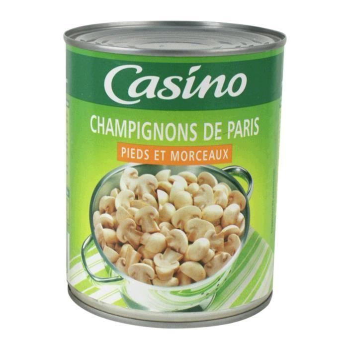 CASINO Champignon de Paris Pieds Morceaux 460g