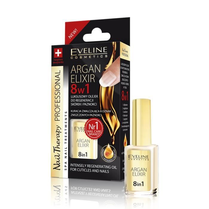 EVELINE Cosmetics Nail Therapy [ARGAN ELIXIR 8in1]