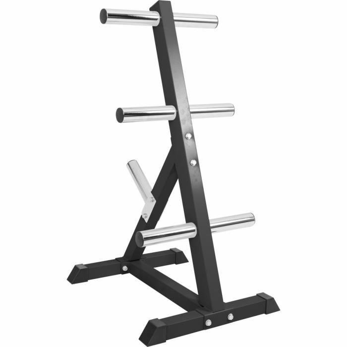 Rack de rangement pour poids Olympiques 4 niveaux 50-51mm noir