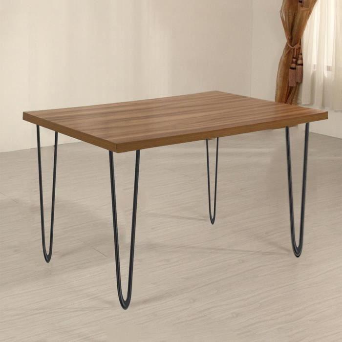 4 Pieds de Table en Epingle à Cheveux de 41cm en Fer Pied Remplacement de Tables/Chaises / Meuble DIY Noir