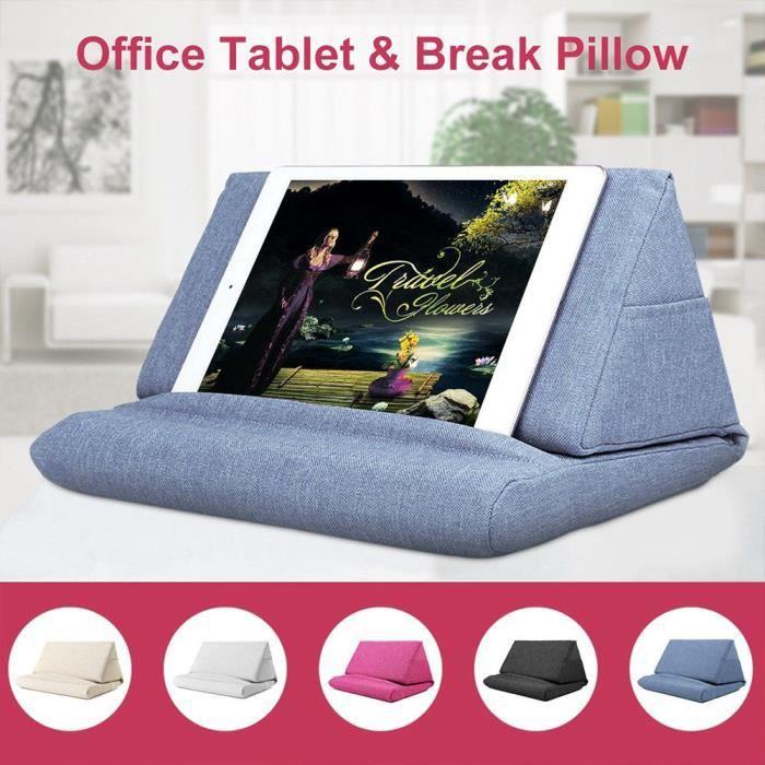 1 Pcs Coussin de Tablette,Tablette Porte Livre Pliable Portable Multifonctions Coussin Tablette,Bleu