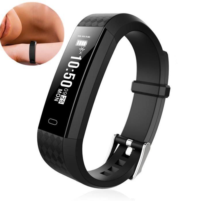 TD® Bracelet connecté femme homme enfant apple accessoire multifonction compatible smartphone connecté calorie fréquence