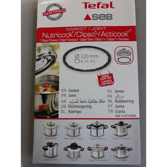 JOINT DE COCOTTE SEB NUTRICOOK,CLIPSO 2,ACTICOOK 4.5L/6L - X1010004(ATTENTION ne commandez pas en fonction du diametre)