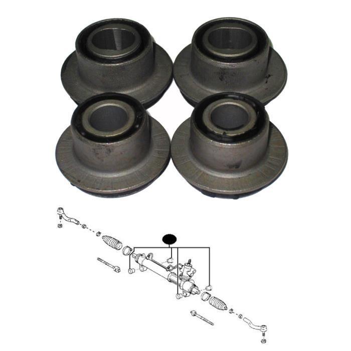 4 silentblocs boitier (crémaillère) de direction Toyota RAV4