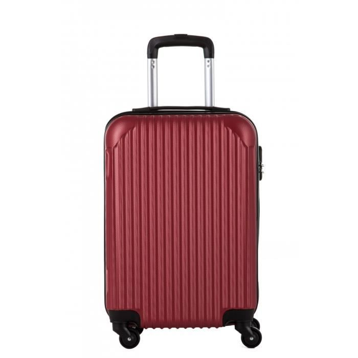 Valise cabine 50cm, 4 roues doubles.,ABS,Rouge,BAGAGE RIGIDE,TW00560-SDRE Rouge