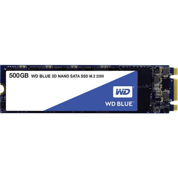 SSD interne SATA M.2 2280 Western Digital Blue™ 500 Go