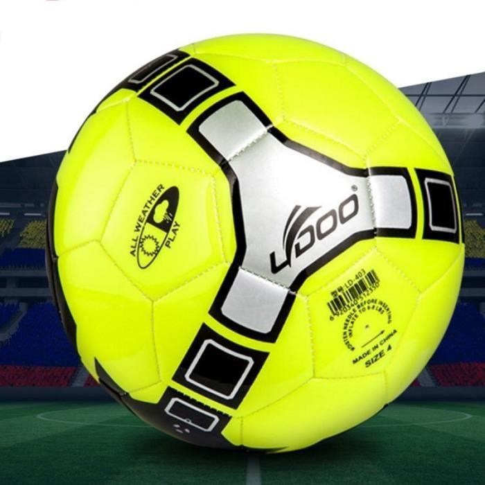 Ballon 19cm cuir PU couture portable Wearable Match Football vert