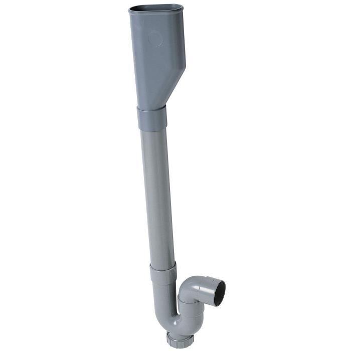 WIRQUIN Siphon double crosse SP5003 - PVC - Machine à laver - Sortie horizontale - À coller