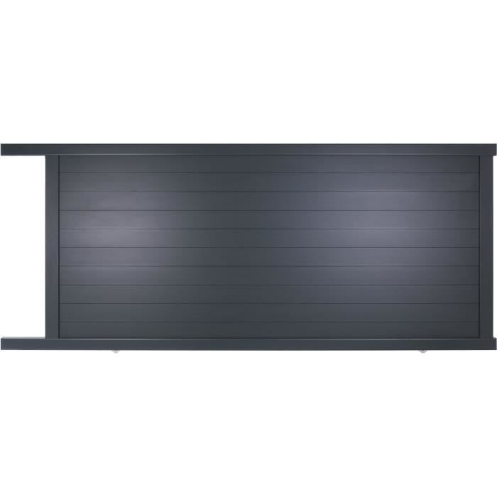 portail coulissant en aluminium yel gris 3 5m manuel. Black Bedroom Furniture Sets. Home Design Ideas