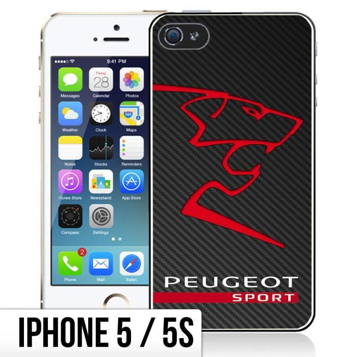 coque iphone 5 5s peugeot sport logo achat coque. Black Bedroom Furniture Sets. Home Design Ideas
