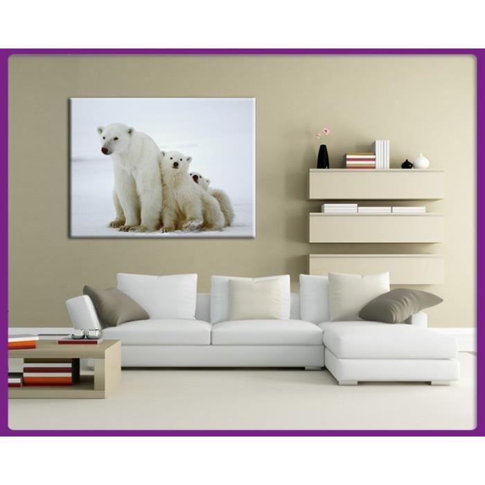 tableau ours blanc achat vente tableau ours blanc pas cher cdiscount. Black Bedroom Furniture Sets. Home Design Ideas