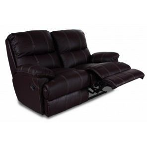 Canap 2 places relax cuir pu chocolat achat vente canap sofa diva - Canape cuir relax 2 places ...