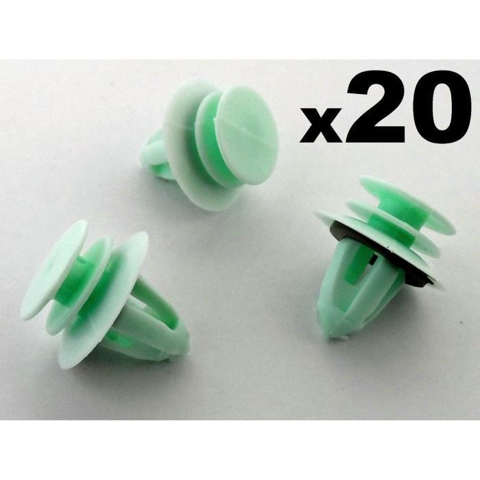 10PCS porte intérieure carte panneau garniture clips montage skoda