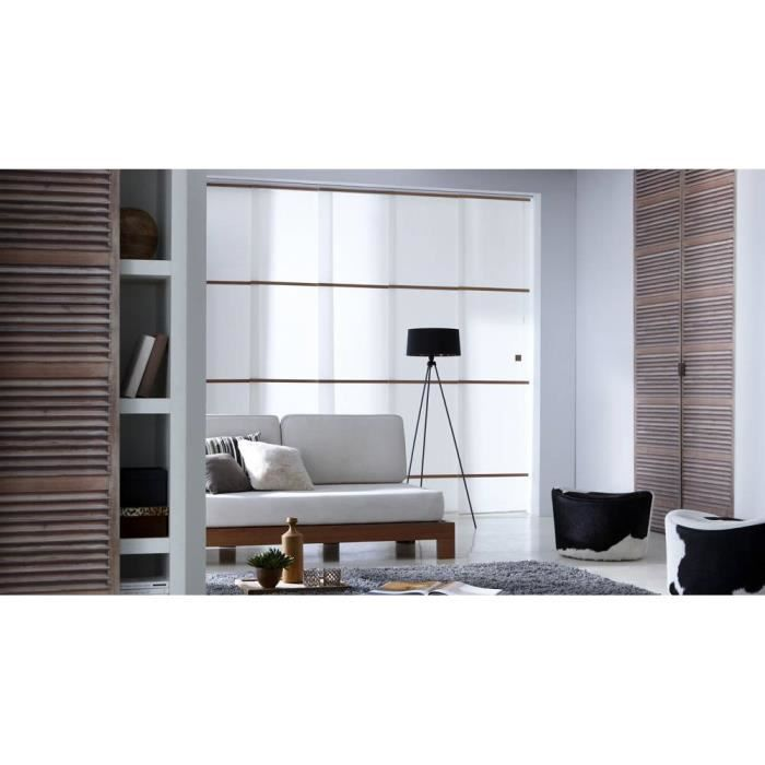 panneau japonais barre bois tamisant achat vente. Black Bedroom Furniture Sets. Home Design Ideas