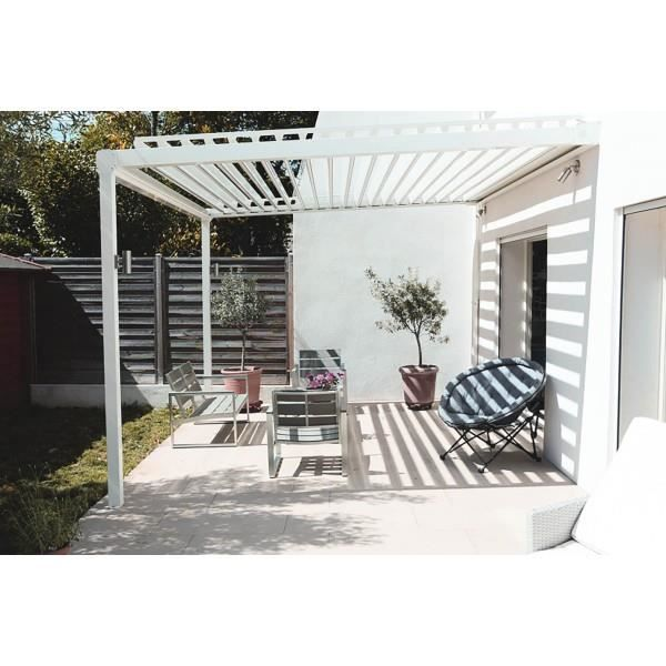 pergola bioclimatique version blanche achat vente pergola pergola bioclimatique ver. Black Bedroom Furniture Sets. Home Design Ideas
