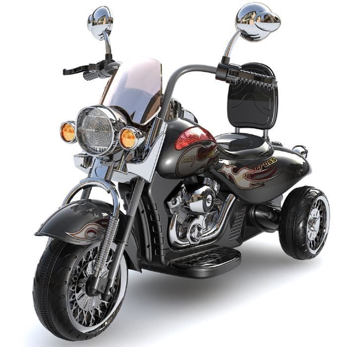 moto lectrique enfant style harley noir avec coffre 12v achat vente moto scooter cdiscount. Black Bedroom Furniture Sets. Home Design Ideas