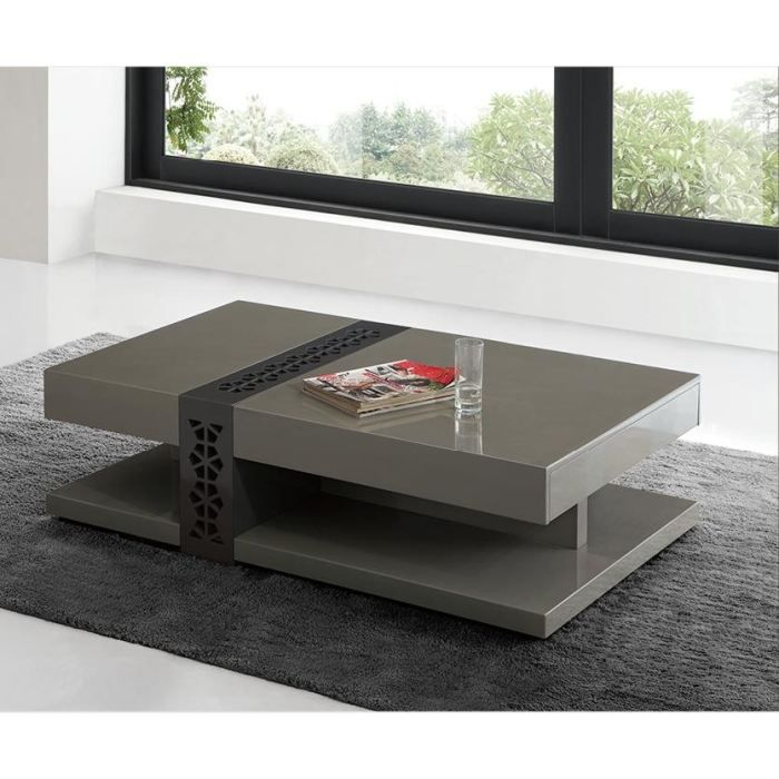 table basse design laqu galina taupe achat vente table basse table basse design laqu. Black Bedroom Furniture Sets. Home Design Ideas