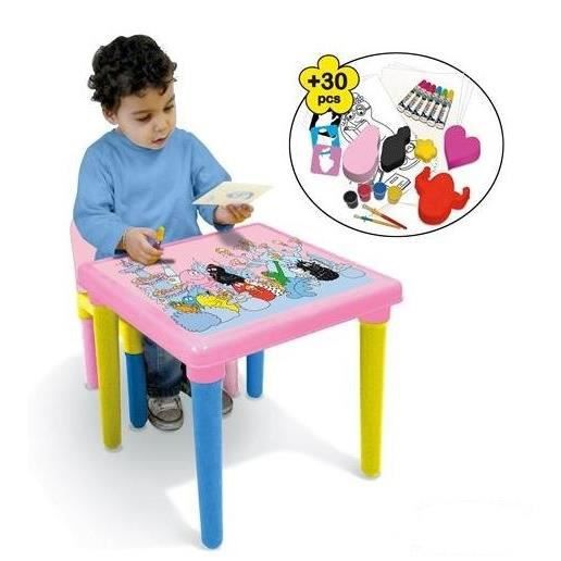 barbapapa table d 39 activit s achat vente table jouet. Black Bedroom Furniture Sets. Home Design Ideas