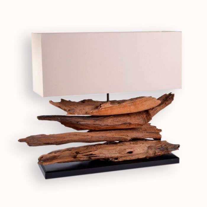 lampe a poser en bois flotte achat vente lampe a poser en bois flotte pas cher cdiscount. Black Bedroom Furniture Sets. Home Design Ideas