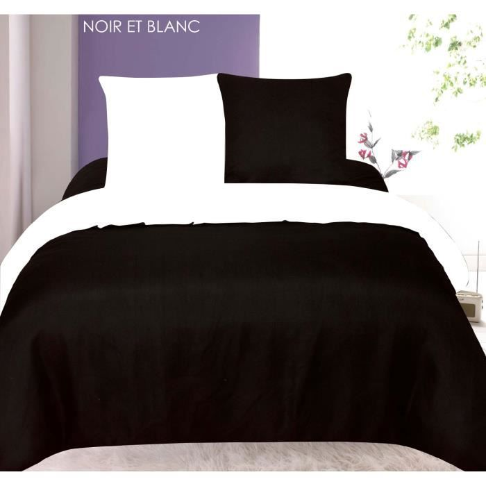 parure de draps bicolore tendre nuit 2 personnes achat vente parure de drap cdiscount. Black Bedroom Furniture Sets. Home Design Ideas