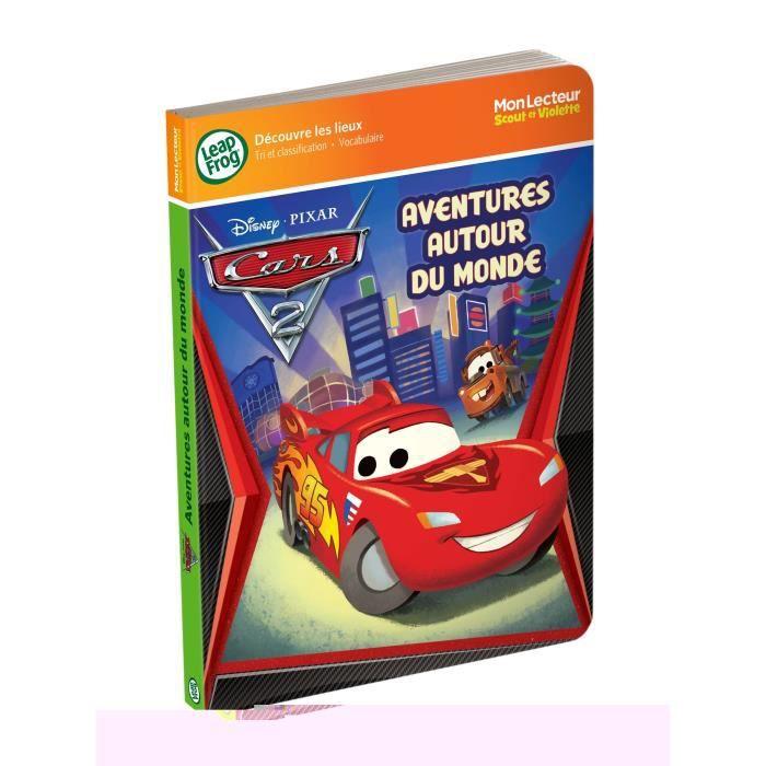 LIVRE INTERACTIF ENFANT CARS Mon Lecteur Scout et Violette Les Lieux