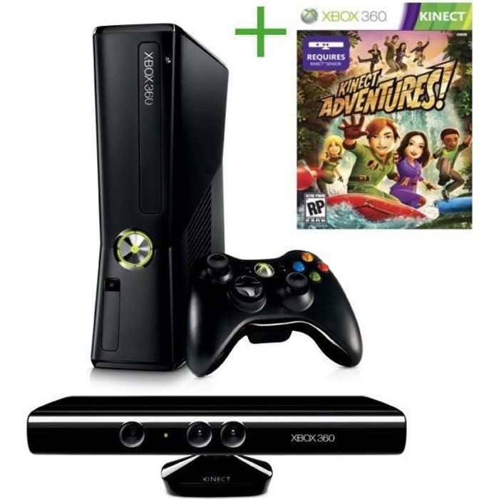 xbox 360 4 go kinect kinect adventures achat vente. Black Bedroom Furniture Sets. Home Design Ideas