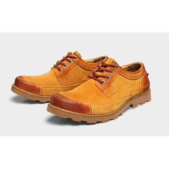 Homme nubuck mocassin chaussures business formel jaune 9A6nmOv