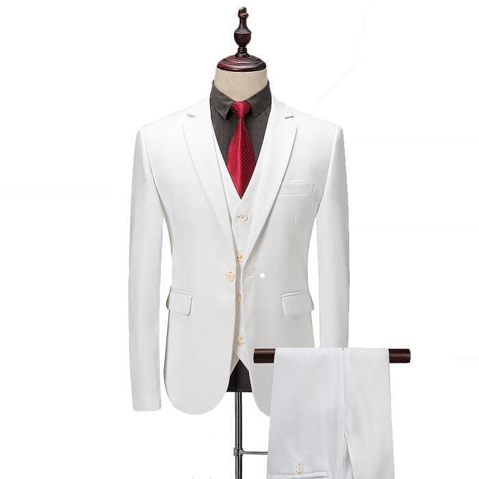 COSTUME - TAILLEUR Costume Homme 3 Pièces Formel Smoking à la mode un