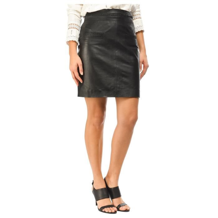 Femme Cuir Eté En Printemps Collection Studio Jupe Mkt Noir Fq4nZ1aw