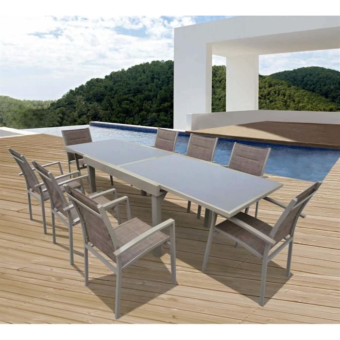 salon de jardin en aluminium cuba achat vente salon de. Black Bedroom Furniture Sets. Home Design Ideas