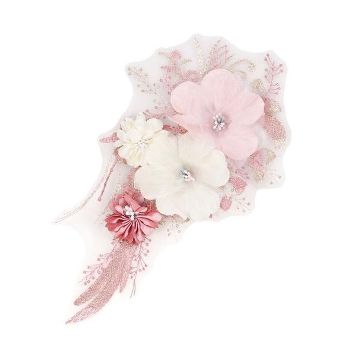Kit décopatch bricolage coloré 3d floral patch appliques jupe je