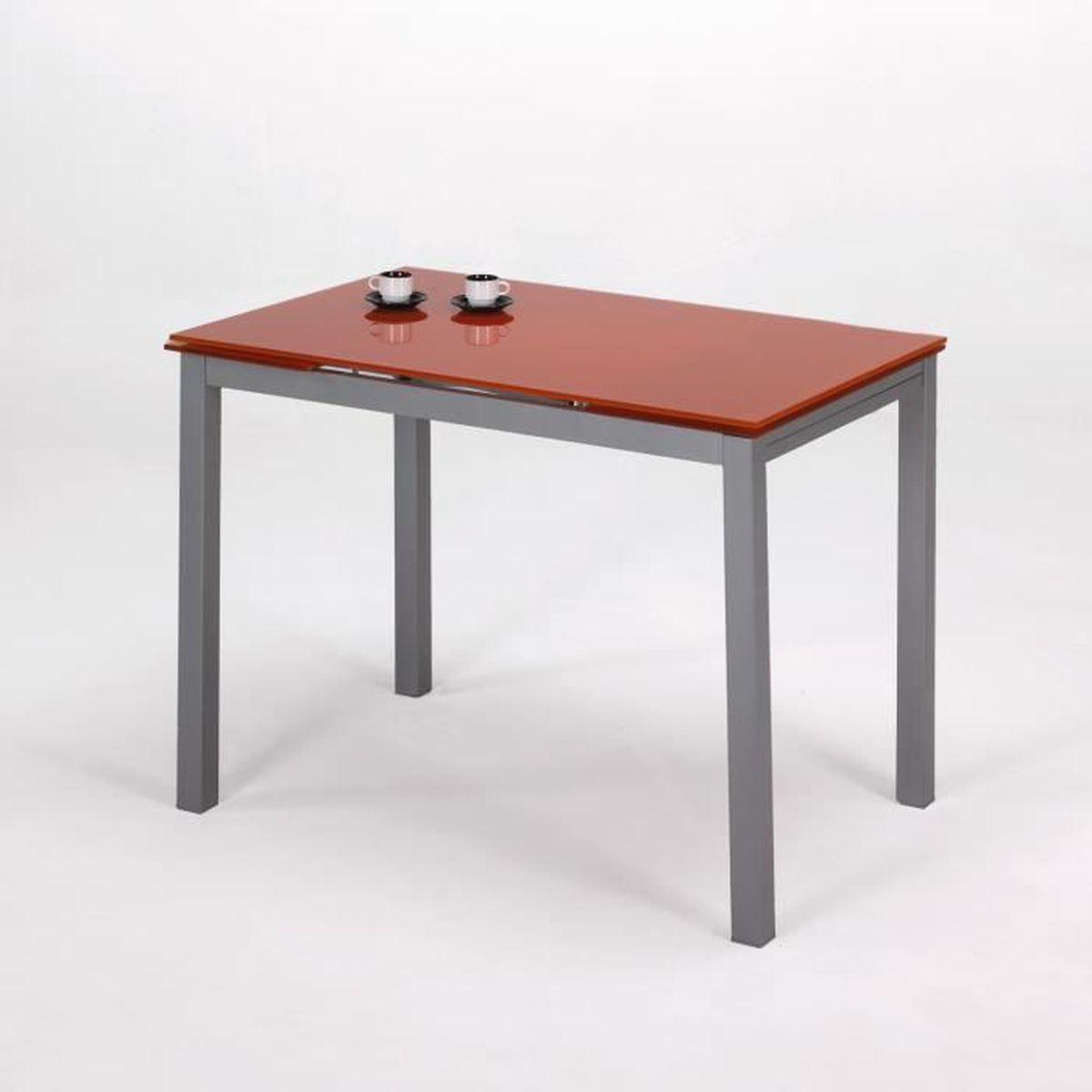 Table extensible avec ailes orange achat vente console for Meuble avec table extensible