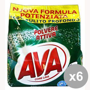 LESSIVE AVA Lot de 6 poudre à lessive 20 Mis. 1,3 kg. Déte